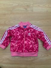 Baby Girls Adidas Originals Tracksuit Track Jacket Top in Pink Size 6-9 months