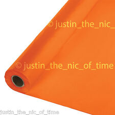 100ft ORANGE PEEL Plastic Buffet Banquet Roll Party Table Cover Tablecover