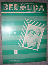 1951 BERMUDA Vintage Sheet Music THE BELL SISTERS by Cynthia Strother