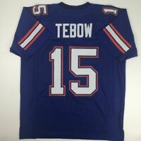 New TIM TEBOW Florida Blue College Custom Stitched Football Jersey Size Men's XL