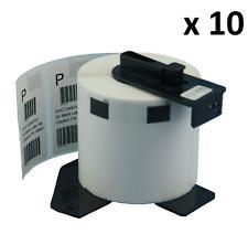 10 X DK11209 compatible (62 X 29mm) blanco encaja hermano QL-570 etiquetas de dirección