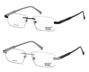 Montblanc Rimless Eyeglass Frames 54mm MB661 NEW