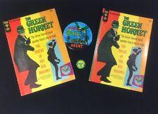 VINTAGE ORIGINAL 1960'S BRUCE LEE KATO GREEN HORNET LOT COMICS PINS CLASSIC TV