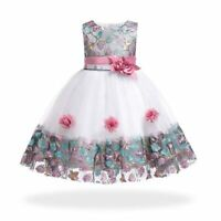 Baby dress kid flower wedding girl formal bridesmaid tutu princess dresses party