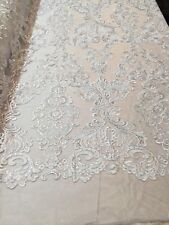 Lace Fabric - Flower Mesh Dress White For Embroidery Bridal Veil By The yard