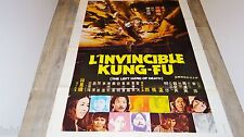 L' INVINCIBLE KUNG-FU  ! affiche cinema karate kung-fu 1973