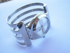 SWATCH IRONY MEDIUM INVADER - YLS123HA - 2002 - STAINLESS STEEL - NEW - LARGE