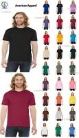 American Apparel Unisex 50/50 Crew Neck Tee XS-2XL BB401W or Made in USA BB401US