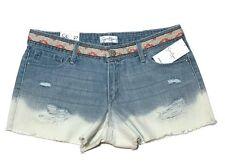 Jessica Simpson Shorts Ombre Denim 27 Destroyed Distressed Daisy Duke Boho 30W