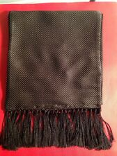 TOM FORD MENS $750 NWT BLACK SILK/CASHMERE SCARF 75 INCHES ITALY🇮🇹