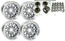 TRANS AM 15X8 SNOWFLAKE WHEEL KIT-SILVER-STAINLESS CENTER CAPS & NEW LUG NUTS