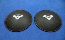 """Cerwin Vega 4.5"""" Felt Dust Caps with Logo / Speaker Repair / Incl. Glue & Brush"""