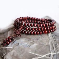 1pc 6mm 108 Perles de Prière Méditation Bouddhiste Santal Bouddha Mala Bracelet