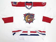HAMILTON BULLDOGS AUTHENTIC AHL PRO WHITE REEBOK 6100 HOCKEY JERSEY SIZE 54