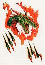 Temporary Tattoo, Dragon Tattoo, AGD234 06-12, Drache in Flammen