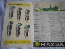 vintage Radio Mazda Valves European radio station wavelength guide 1950s