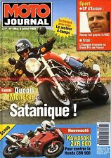 MOTO JOURNAL 1094 Test DUCATI 900 Monster KAWASAKI GPZ 900 Ninja HONDA RVF RC 45