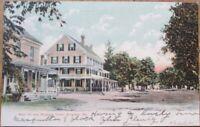 Bingham, ME 1907 Postcard: Main Street & Bingham Hotel - Maine