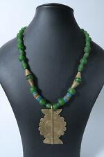 Recycling Glasperlen 9mm türkis rund AZ24 Krobo Glass Powder Beads Ghana Altglas