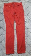 AMERICAN EAGLE SKINNY STRETCH COLORED JEANS in reddish orange. size 4.