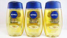NIVEA Natural Oil shower gel 3 x 200ml- Shipping Worldwide -