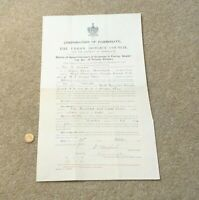1905 Corporation of Harrogate Apportionment of Expenses of Paving Sewers etc.#A1