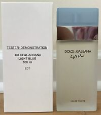 DOLCE GABBANA LIGHT BLUE 3.3oz WOMEN PERFUME D&G EDT 100mL 3.4 NIB W CAP TES