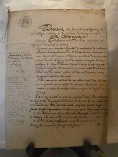 Acte notarié généralité 1859   vente de terres près et vigne à Ludres Lorraine