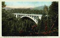 Traver Hollow Bridge Around Ashokan Reservoir NY Swastika Back Kingston Postcard