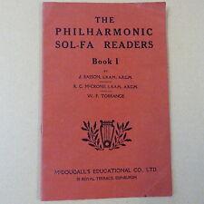 books THE PHILHARMONIC SOL-FA READERS Book 1, J. Easson, McCrone, Torrance