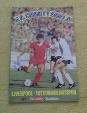 466) Liverpool v Tottenham Hotspur   fa charity shield programme 21-8-1982