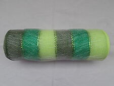 Shades of Green Deco Mesh 10 inches by 10 yards