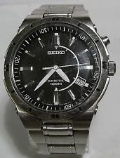 REDUCED! SEIKO KINETIC DATE MENS 5M62 STAINLESS STEEL WATCH PARTS REPAIR VIDEO