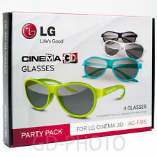 NEW Glasses LG AG-F315 PARTY PACK 4pcs for Cinema 3D on ANY TV with PASSIVE 3D