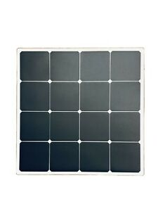 "Pack of 2!!! Sunpower Flexible Solar Panel 50W, RoHs Size 21""x21"""