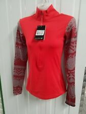Nike Women's Pro 1/2 Zip Hyperwarm Running Top - Red SIZE XS
