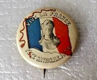 WW1 FRENCH REVOLUTION BASTILLE DAY BADGE 14th July 1916