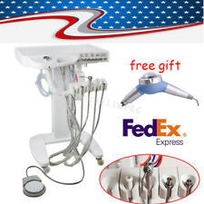 Portable Dental Delivery Unit Cart System Mobile Standard + Foot pedal + bottle