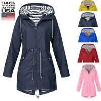 Women Pure Rain Jacket Outdoor Jackets Waterproof Hooded Raincoat Windproof Hot