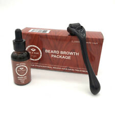 Men Beard Growth Serum Oil+Micro Needle Roller 0.25mm Beard Hair Growth Kit