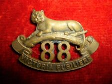 CEF 88th Battalion (Victoria Fusiliers) Officer's Collar Badge, Canadian WW1