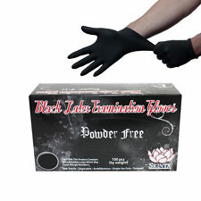 SKINTX BLACK LATEX EXAM PF GLOVES BLK 90020 - Size X Large