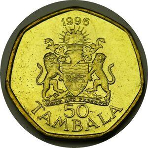 elf  Malawi 50 Tambala 1996 Coat of Arms