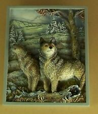 Timberland Chorus JOIN THE HOWLING CHORUS Plate Wolf Sculptural Panorama Plaque