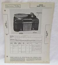 Vintage Photofact Folder Garod Model 5AP1-Y Radio Parts Manual