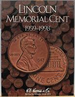 Coin Folder - Lincoln Memorial Cent 1959 - 1998 Set - Harris Album 2675 Penny