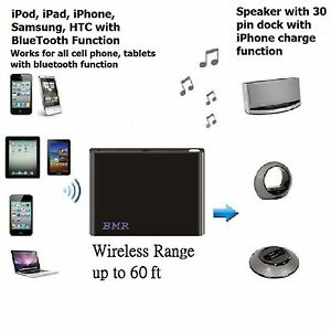 Black Bluetooth A2DP Music Receiver Adapter for Bose Sounddock 10 & Wave