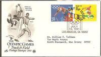 US SC # 2553-2554 1992 Summer Olympics FDC. Artcraft  Cachet.