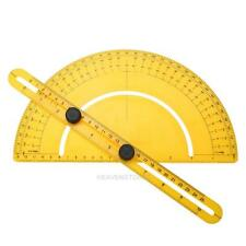 Protractor Angle Finder Articulating Arm Fold Ruler Measuring 180° (Yellow hv2n