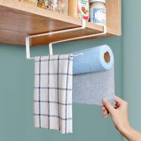6-Hook Cup Holder Glass Paper Towel Hanger Cabinet Under Shelf Storage Rack CCC